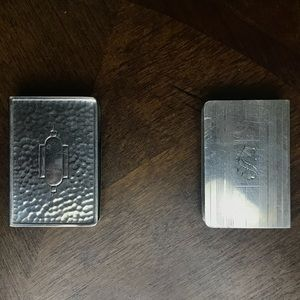 VINTAGE STERLING SILVER MATCHBOX COVERS/HOLDERS